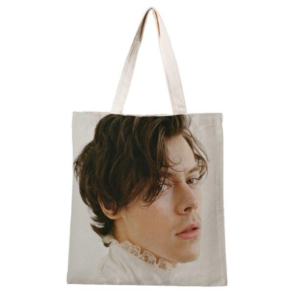 Ladies Handbags Harry Styles Canvas Tote Bag Cotton Cloth Shoulder Shopper Bags for Women