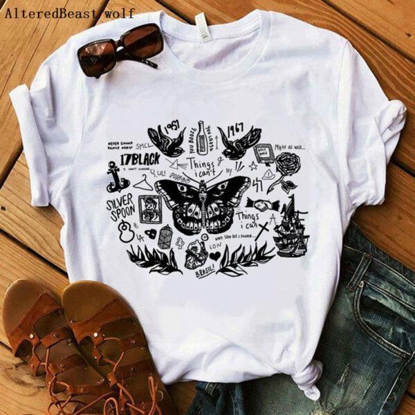 Butterfly Harry Styles T-shirt For Women