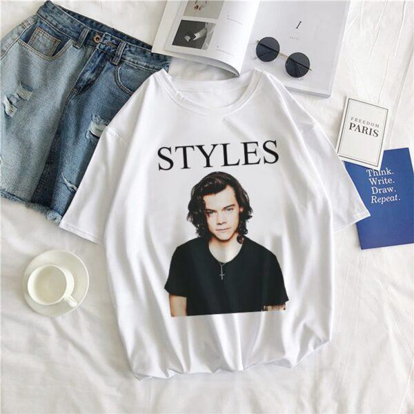 Harry Styles Hip-hop T-shirt Cartoon Graphic Tops & Tee